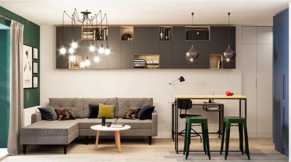 Креативен дизайн на малко студио с интересно зониране [28 м²]