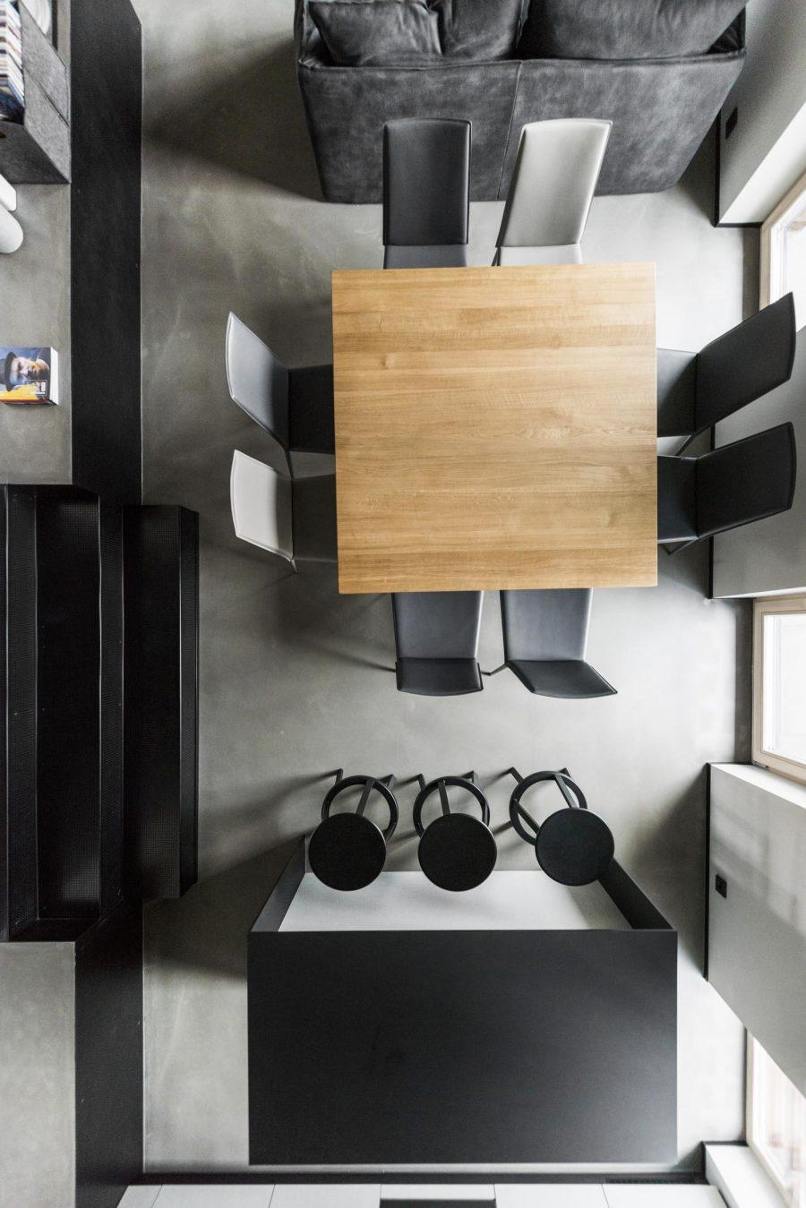 Минималистичен интериор за голям апартамент в Литва [150 м²]