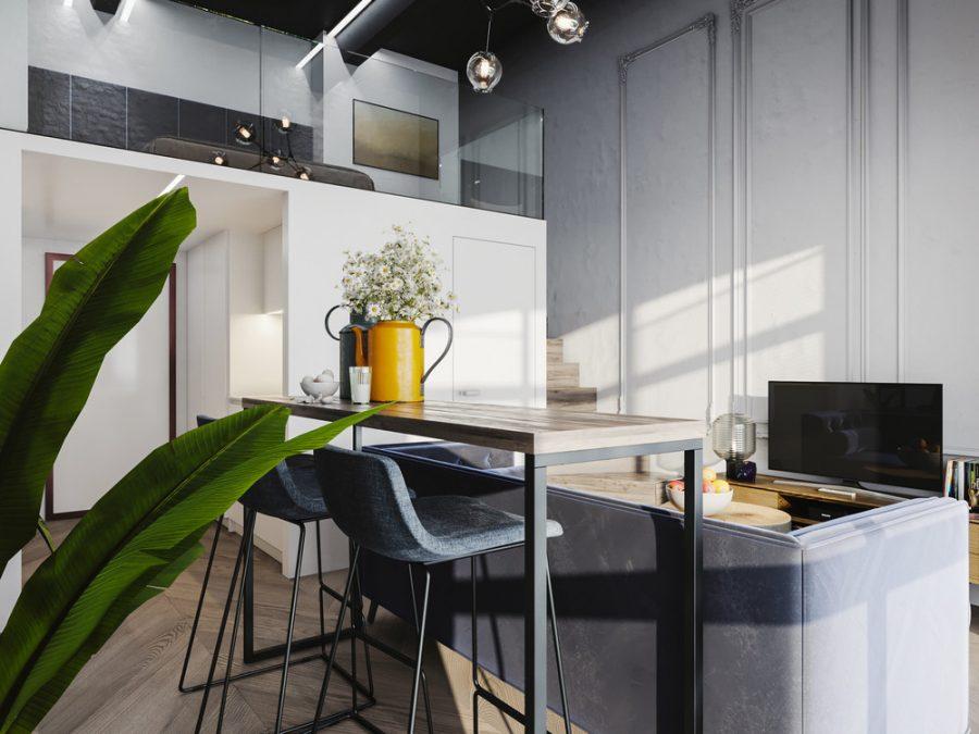 Малък апартамент, намиращ се в бивша фабрика за пакетиране на чай [24 м²]