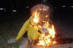 Контейнер за смет и стърнища гасиха плевенските огнеборци