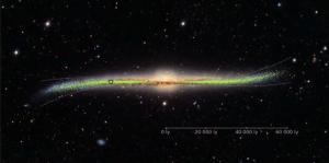 3D карта на Млечния път показа изкривяване в района на Слънчевата система