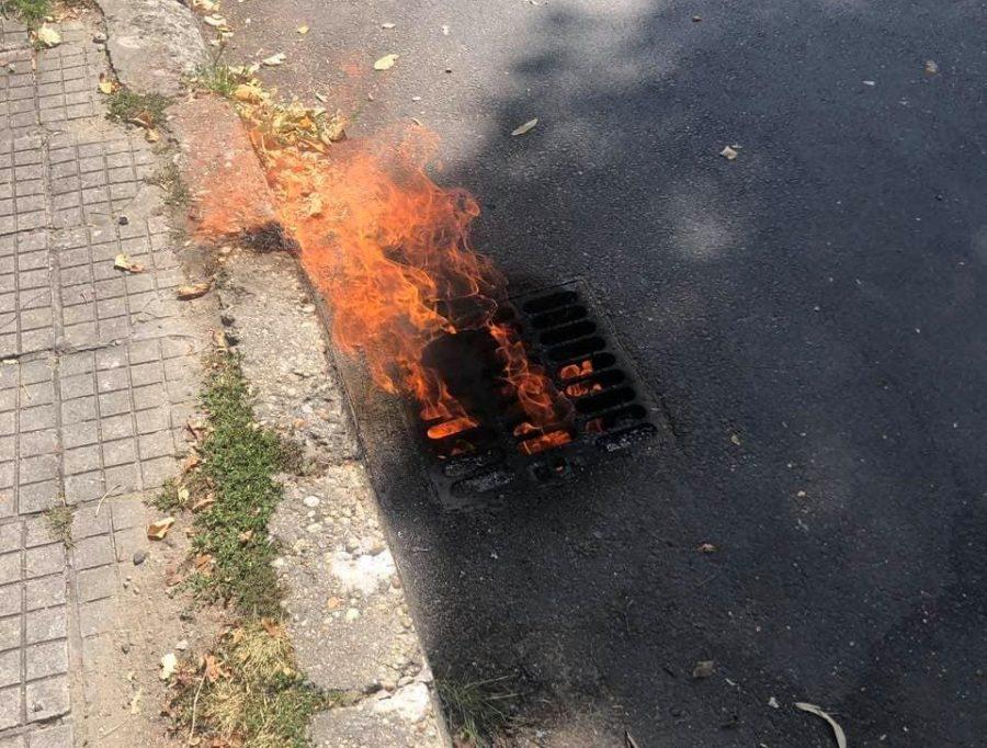 Шахта горя до бензиностанция в Габрово
