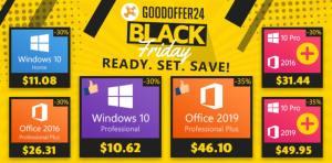 GoodOffer24 на Черния петък: 30% допълнителна отстъпка за ВСИЧКИ софтуерни продукти плюс код за 35% намаление за Office 2019