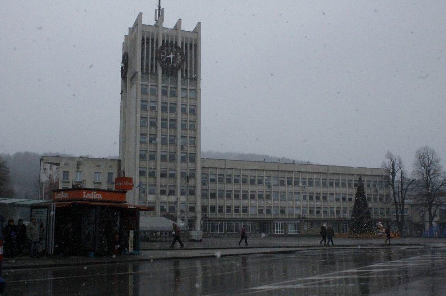 Първи сняг над Габрово