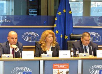 Евродепутатите от ГЕРБ и вицепрезидентът Йотова хвалиха правосъдието ни в Брюксел
