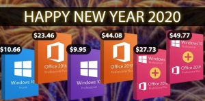 Нова година – нови предложения: Windows 10 Pro за $9,95, Office 2016 за $23,46, с 35% допълнителна отстъпка