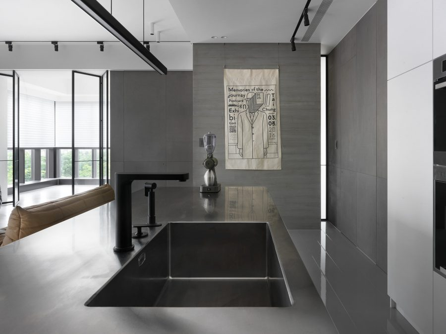 Семпъл и модерен интериор на апартамент в Тайван