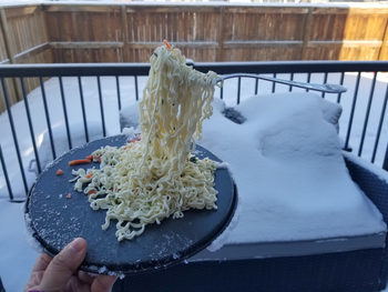 Снимка на деня: Замръзват ли спагетите