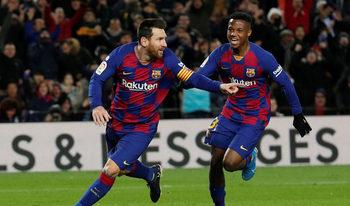 """С човек повече и късен гол на Меси """"Барселона"""" тръгна с победа при Сетиен"""