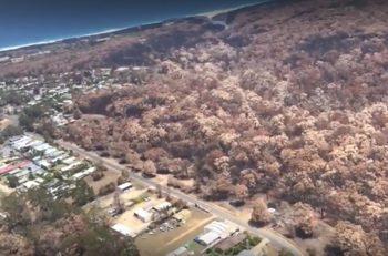 Как изглежда сега епицентърът на пожарите в Астралия
