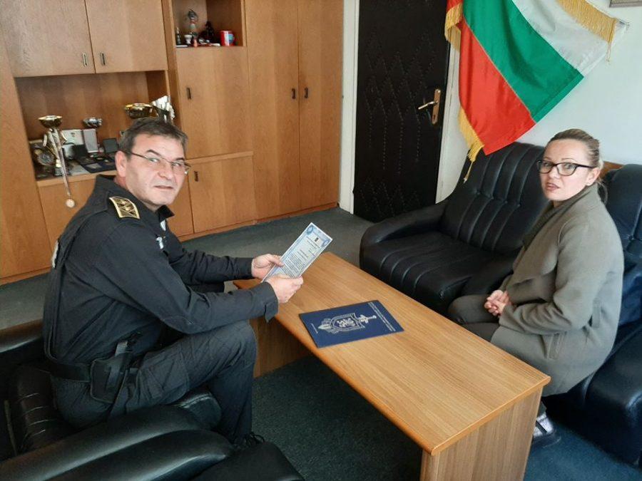 Комисар Муеров отличи жена от Габрово за доблестна постъпка