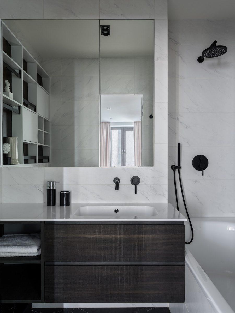 Семпъл, модерен и уютен апартамент в Москва [70 м²]