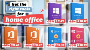 Вземете най-подходящите софтуерни инструменти за офиса: Office 2019 за $32,27, Office 2016 за $21,65 и Windows10за $9,49