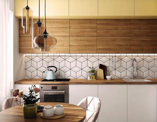 Модерна кухня със слънчев скандинавски дизайн