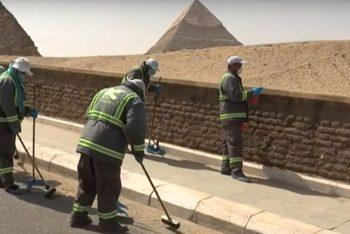 Заради вируса дезинфекцираха и района около пирамидите в Гиза