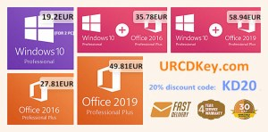 Магазинът URCDKey предлага продуктови ключове за Windows при цена под 13 евро