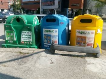 """""""Екопак"""" започва дезинфекция на контейнерите за разделно събиране на отпадъци"""