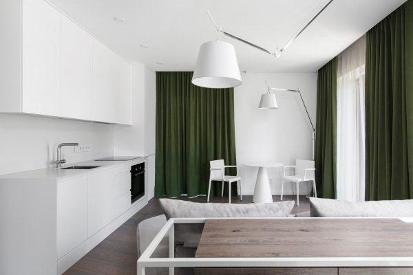 Малък апартамент с практичен интериор в Вилнюс, Литва [56 м²]
