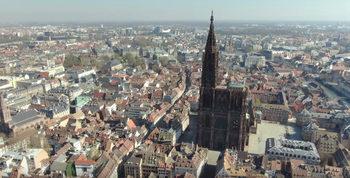 От птичи поглед – Блокираният Страсбург прилича на макет на град