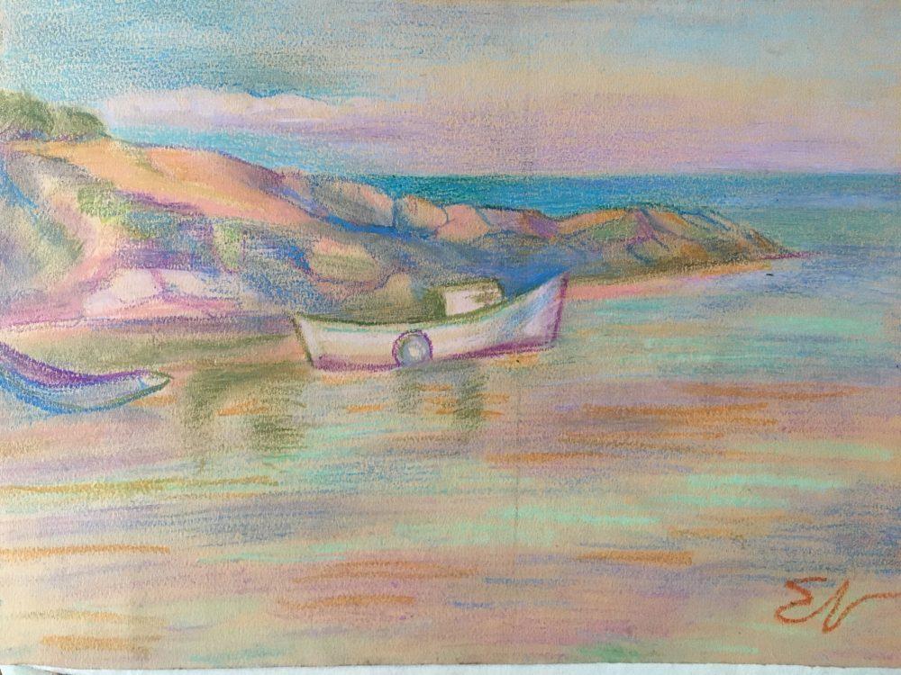 Пейзаж – Пастел на известната графистка Елка Найденова