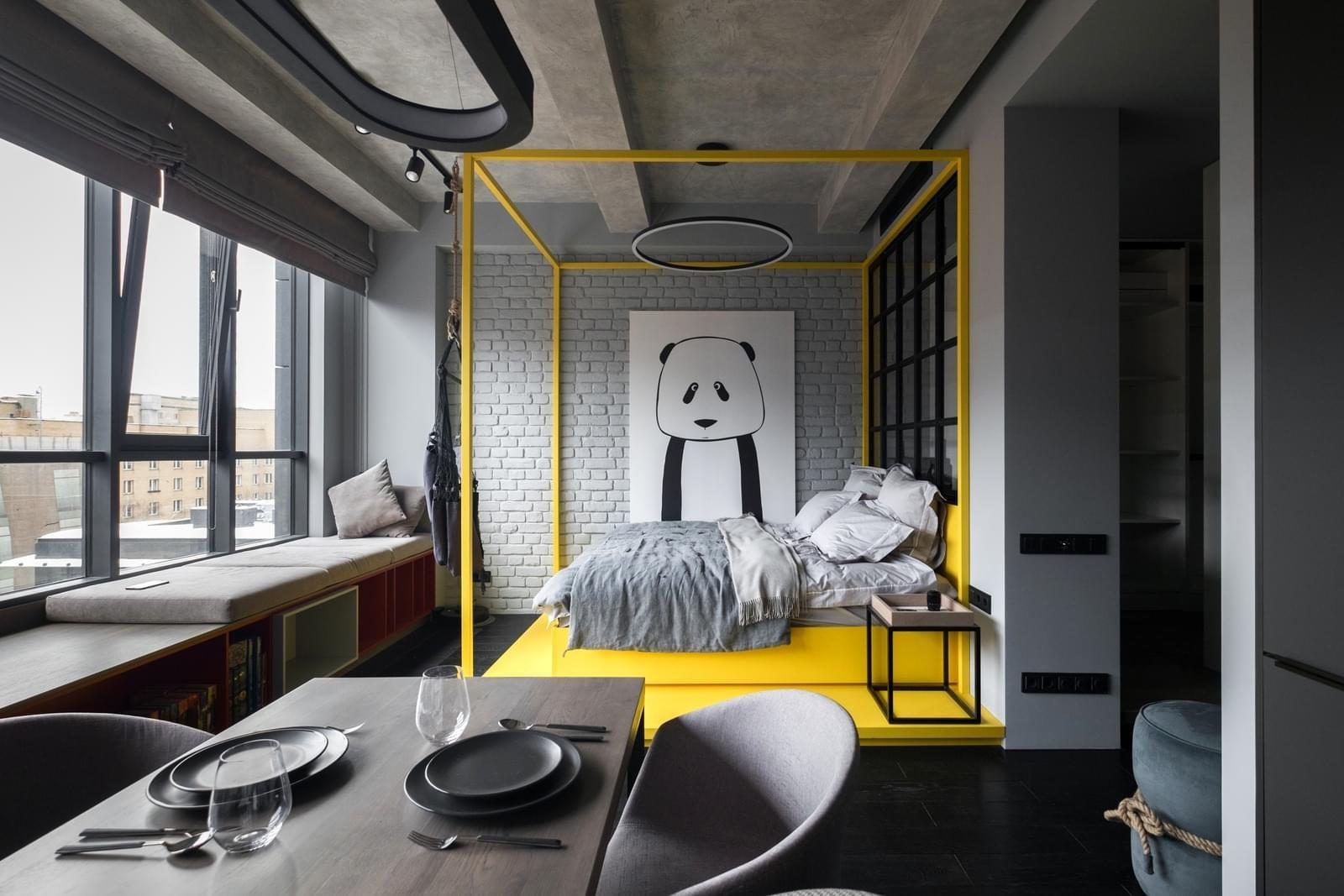 Едностаен апартамент в стил лофт в Москва