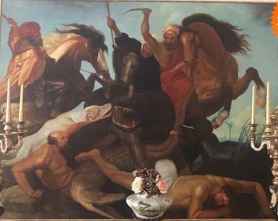 """""""Лов на хипопотами и крокодили"""" – класически барок на Рубенс"""