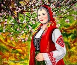 Анета Стоянова връща към традициите и ценностите на българската душевност с картините си