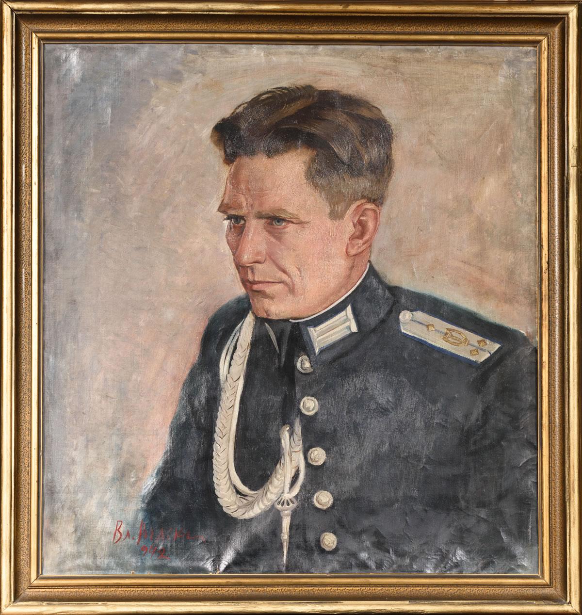 Владимир Рилски Портрет на вуйчо Йорго-1942г. – масло 63x59cm